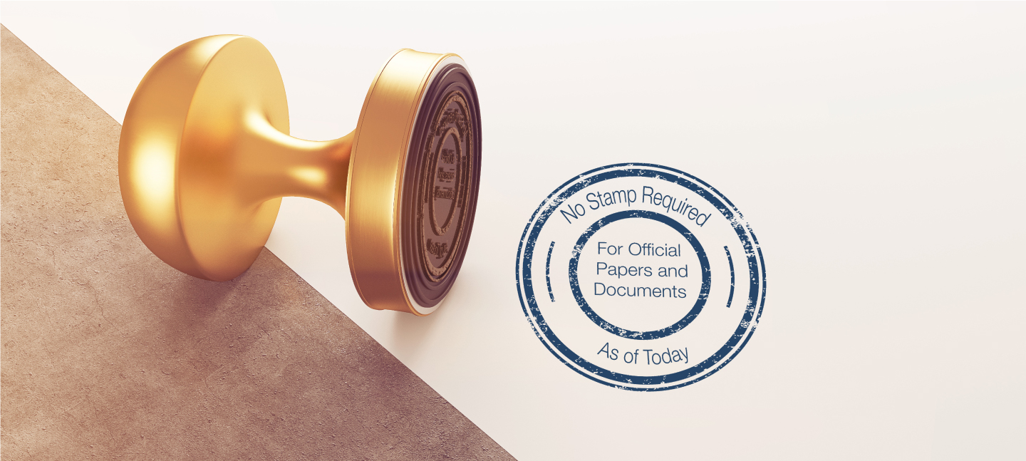 The stamp on the company's official papers or documents is no longer required